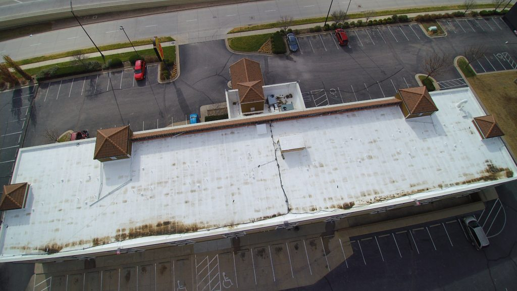 hotel roofing before work